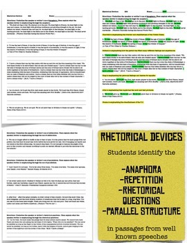 Expository Text: Steve Job's Speech and Rhetoric Worksheets  RI.9-10.6 Aligned