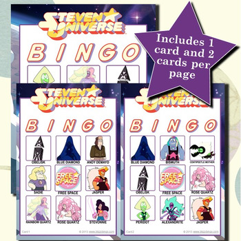 Steven Universe 3x3 Bingo 30 Cards