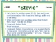 """""""Stevie""""  Drawing Conclusions -  Open Court Reading"""
