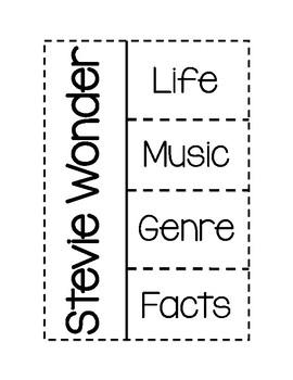 Stevie Wonder Bio & Foldable