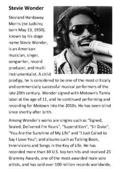 Stevie Wonder Handout
