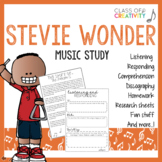 Stevie Wonder Music Study: Activities and Worksheets