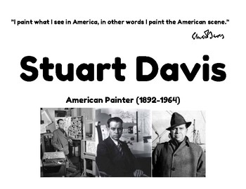 Stewart Davis Abstract Letters and Numbers Project