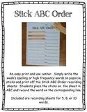Stick ABC Order