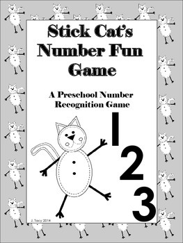 Stick Cat Number Fun - A Preschool to Kindergarten Number Recognition Game