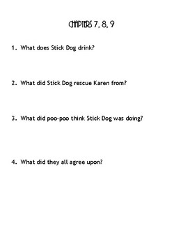 Stick Dog Tries to Take the Donuts Questions