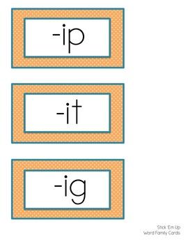 Stick 'Em Up - Phonics or Math Team Game {Freebie}