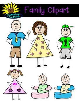 Stick Family Clipart