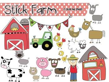 Stick Farm Clip Art