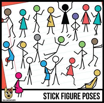 Stick Figure Action Pose Clip Art
