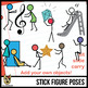 Stick Figure Action Pose Clip Art