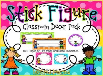 Stick Figure Classroom Decoration Pack