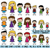 Stick Figure Family Clipart, Stick People Clip Art - Comme