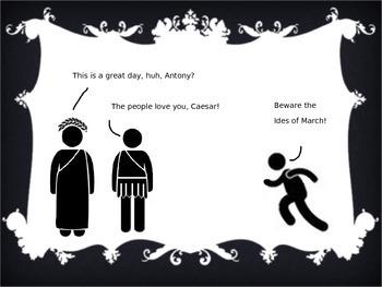 Stick Figure Julius Caesar - Shakespeare Summary PowerPoint