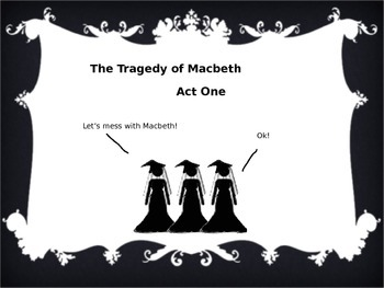Stick Figure Macbeth - Shakespeare Summary PowerPoint