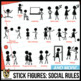 Stick Figures Clip Art: Social Stories   School Behaviors   Rules (break/follow)