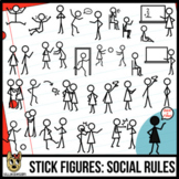 Stick Figures Clip Art: Social Stories | School Behaviors