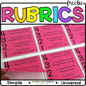 Post It Note Rubrics {Print on Cardstock or Post It Notes}