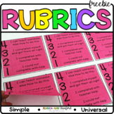 Post It Note Rubrics
