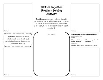 Stick It Together -  Problem Solving