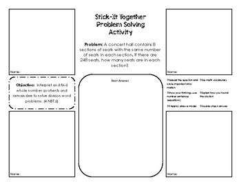 Stick It Together -  Problem Solving