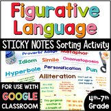 Figurative Language Sorting Activity with Sticky Notes