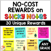 NO COST Student Rewards on Sticky Notes