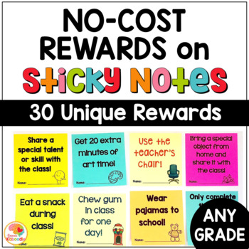 NO COST Incentives on Sticky Notes