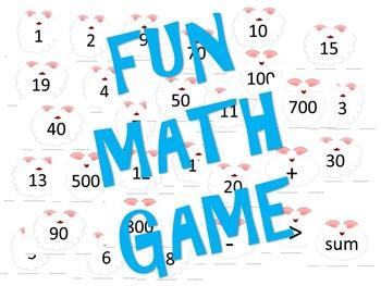 Stick-It to Santa - Number Sense Math Game