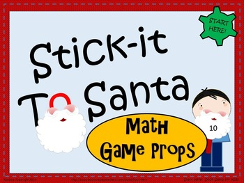 Stick-It to Santa - Number Sense Math Game