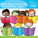 Stick Kid Book Peeps - Clipart for Teaching