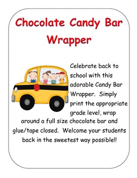 Stick Kid Candy Bar Wrapper