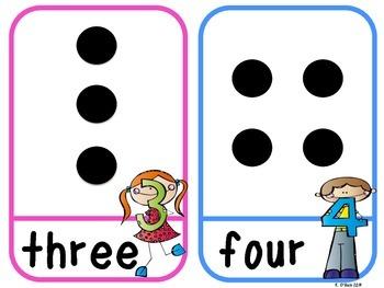 Stick Kid Number Cards (Dot Pattern)