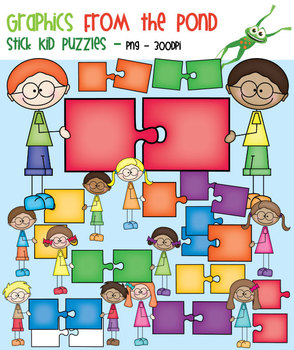 Stick Kid Puzzles - Clipart for Teaching