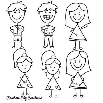 Stick Kiddies Clipart - Free Download