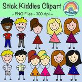 Stick Kiddies Clipart - Free Download