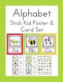 Stick Kids Alphabet Poster Card & Picture Letter Sound Pack