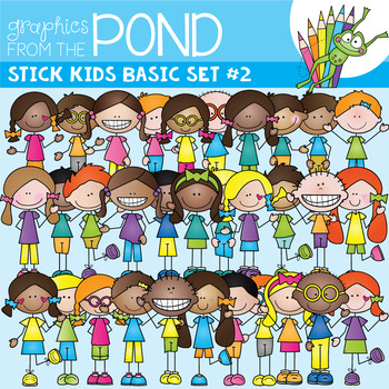 Stick Kids Basic Set #2 {Graphics From the Pond}