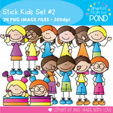 Stick Kids Basics Set 2 - Clipart for Teaching Resources