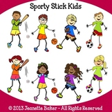 Stick Kids Clip Art (Sports) by Jeanette Baker