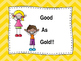 Behavior Clipup Chart - Stick Kids