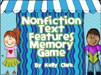 Stick Kids Nonfiction Text Features Memory Game-Common Cor
