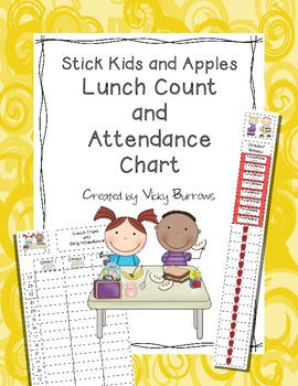 Stick Kids and Apples Lunch Count and Attendance Chart