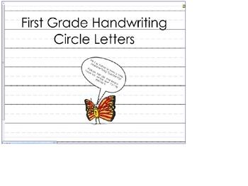 Stick Letter Handwriting (Zaner Bloser style font)