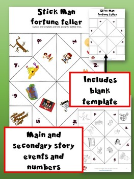 Stick Man Fortune Tellers - Learning language through Stories and Craft