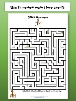 Stick Man Mazes - Number recognition and language learning