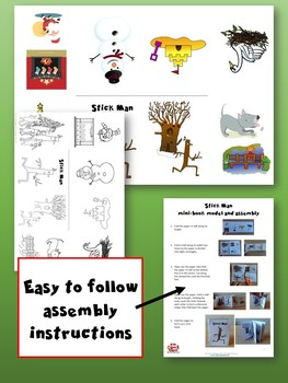 Stick Man Mini-book - Learning language through Stories and Craft