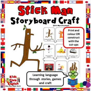 Stick Man Storyboard - Learn English through Stories and Craft