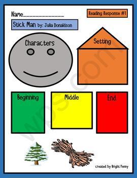 Stick Man by Julia Donaldson Literacy Response Packet