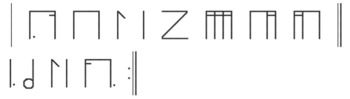 Stick Notation Font